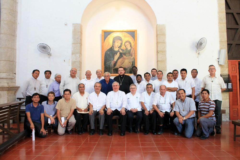 Meksyk, Merida: Spotkanie zakonników